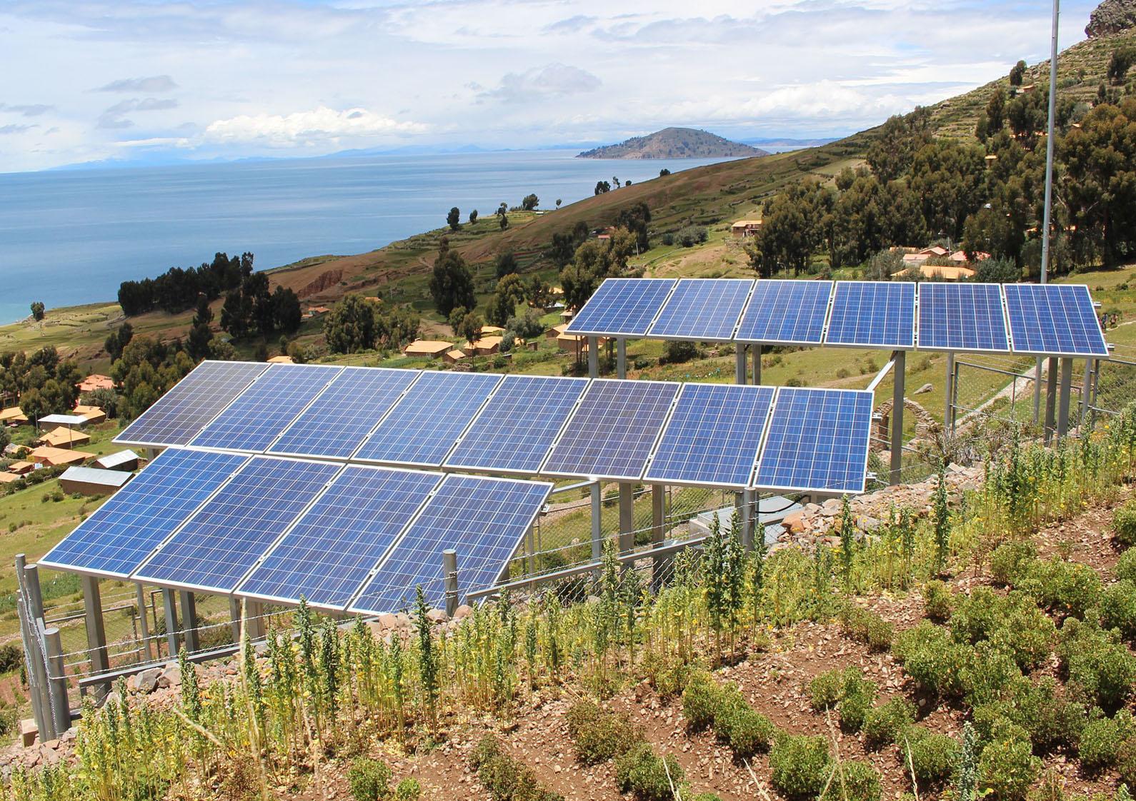 placas solares en finca