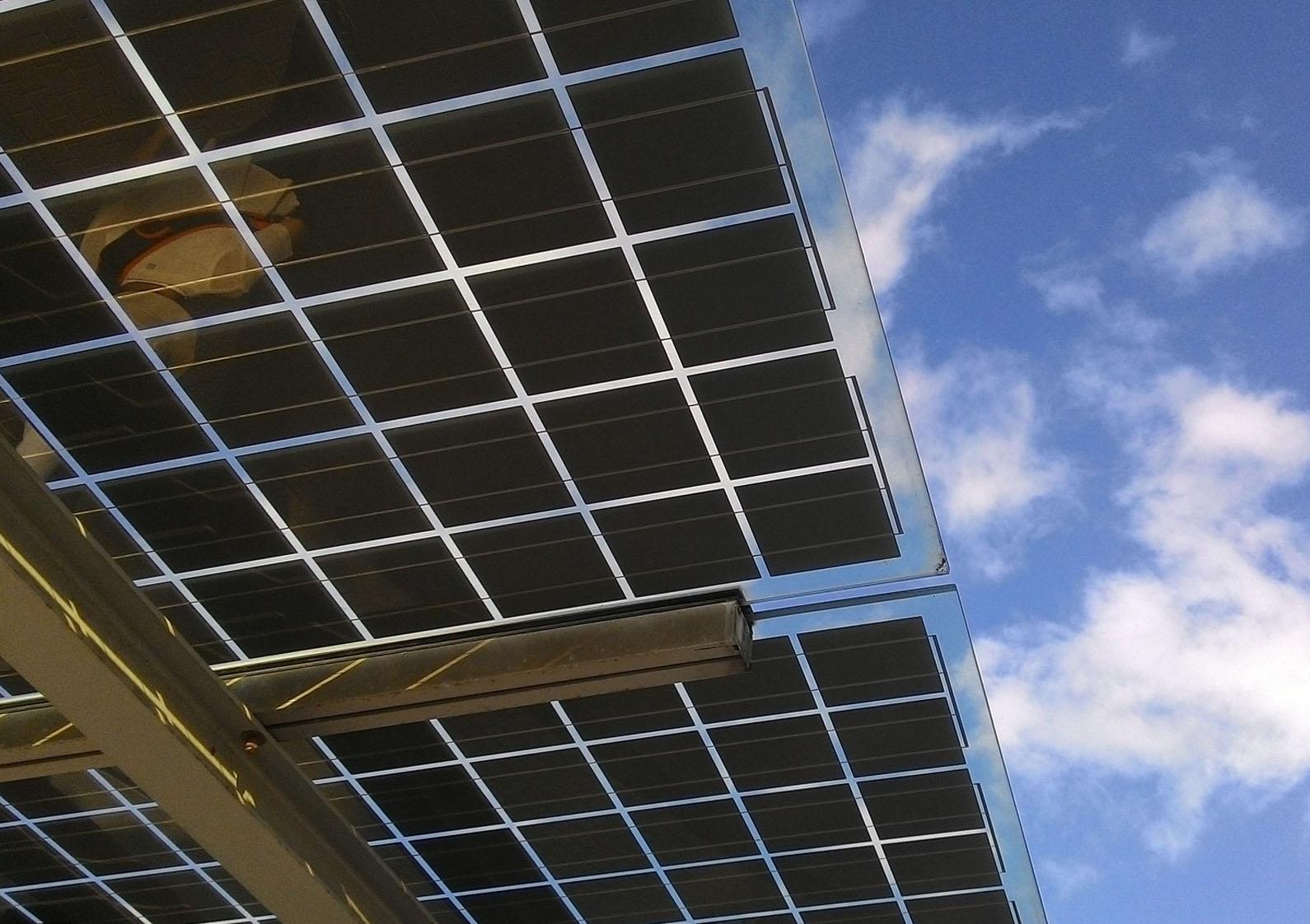 detalle placa solar